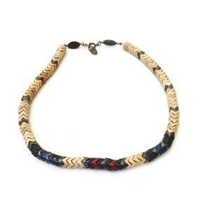 Isabel Marant Herringbone Necklace Wood & Glass